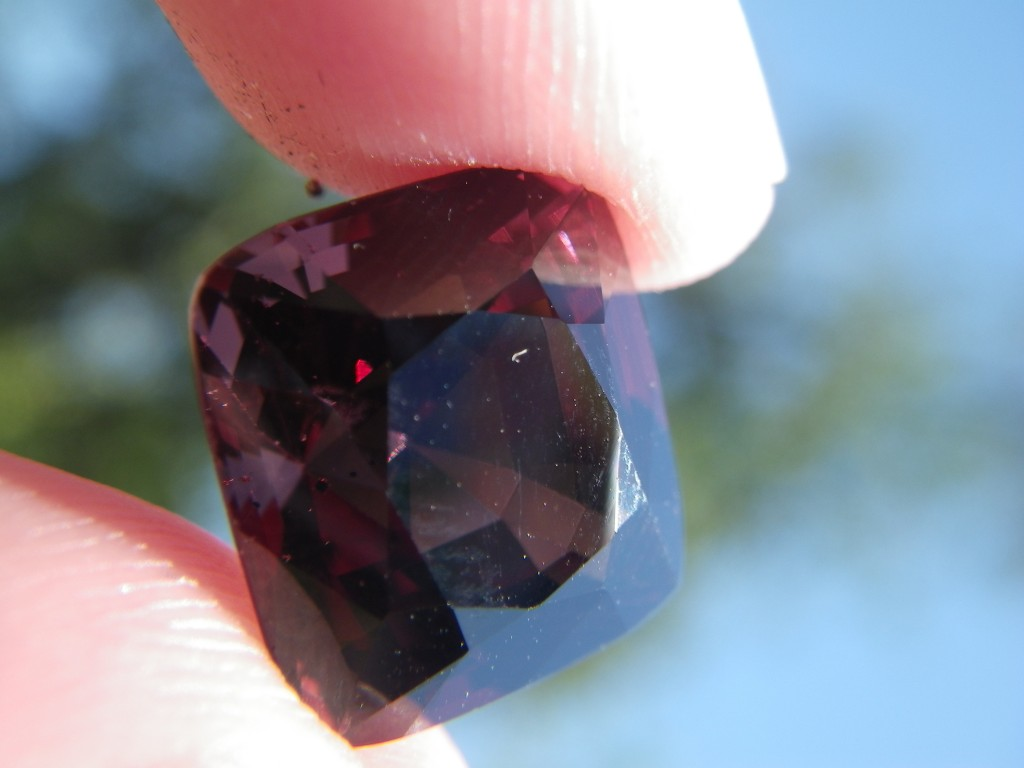 10.24ct Ceylon raspberry spinel from Sri Lanka
