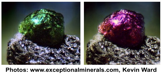 A beautiful example of a natural Alexandrite in matrix