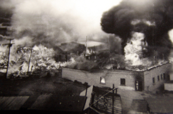 One of several fires during the 1870s that burned most of the town to the ground.