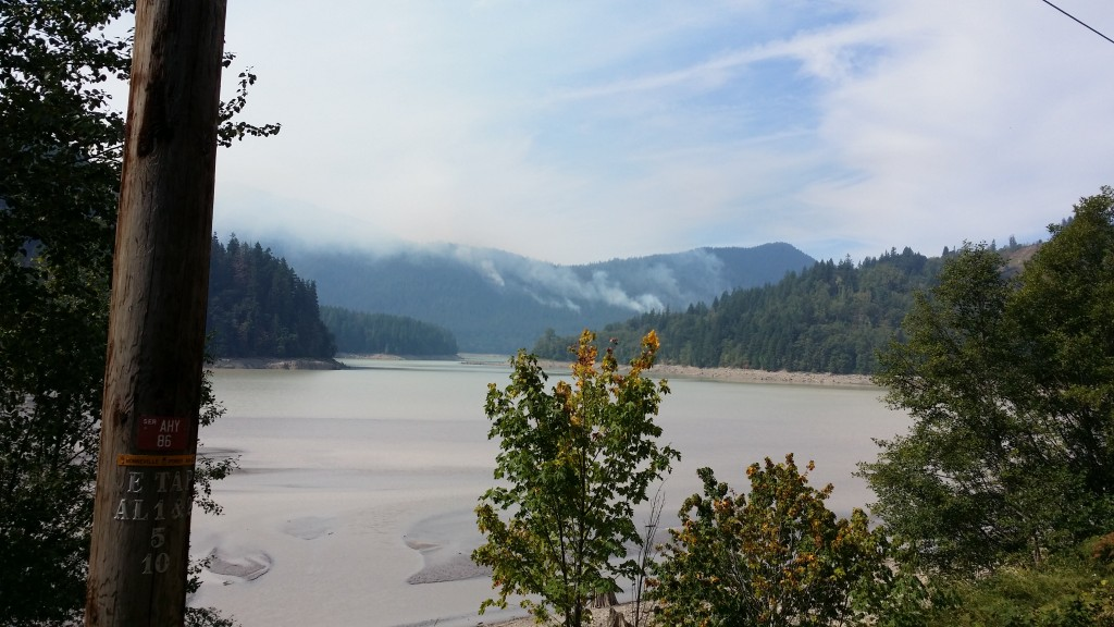 The Nisqually River valley burns and adds to the clean air