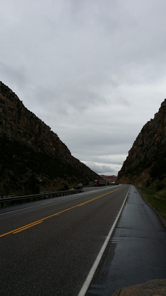 The Nothern mouth of Wind River Canyon looking toward Thermopolis